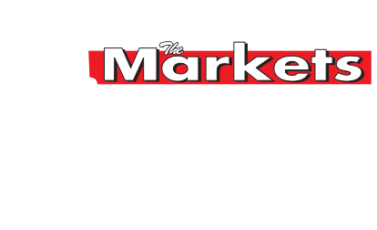 A theme footer logo of The Markets