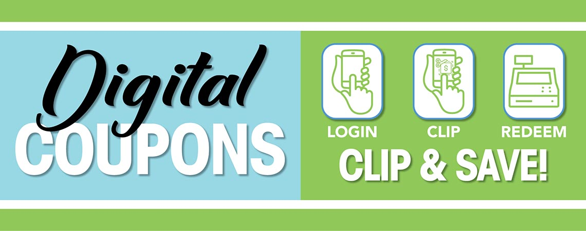 Start Saving today with Digital Coupons at The Markets